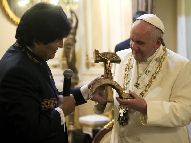 Papa Francisco com Ivo Morales