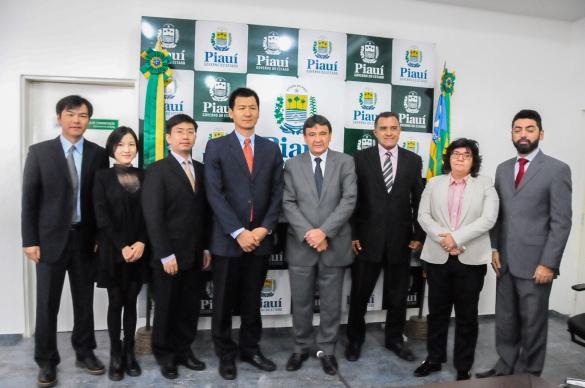 Reunião com o Representante China Development Bank Corporation Rio de janeiro Representações, Su Bin, Diretor Xu Yuankun, Zhao Hao e Chen Xi, Secretá (Foto:Marcelo Cardoso)