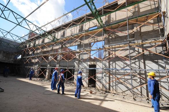 Obras do Centro de Convenções de Teresina (Foto:Paulo Barros)