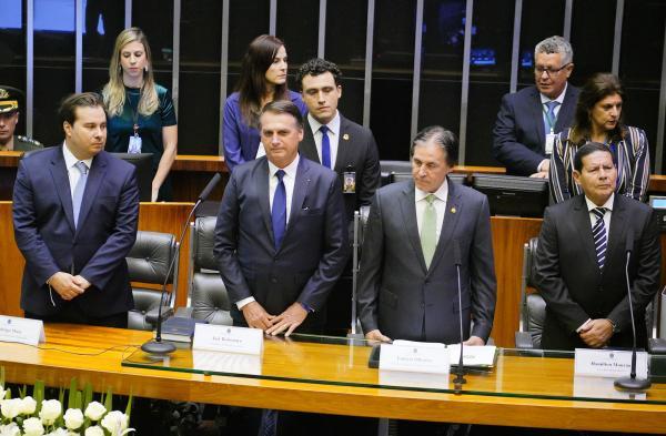 Jair Bolsonaro tomou posse como presidente da República nesta terça-feira (1º), no Plenário da Câmara dos Deputados/Pablo Valadares/Câmara dos Deputados