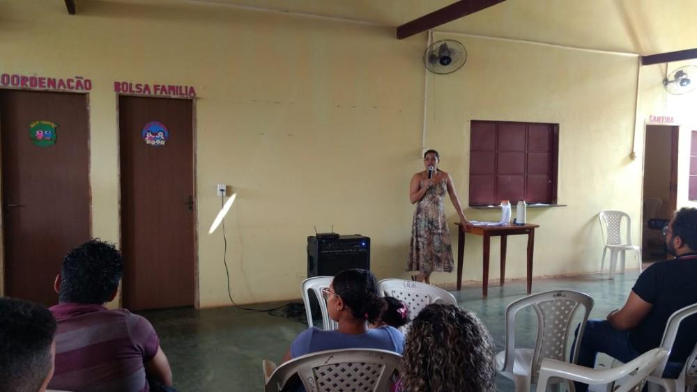 Primeira reunião com os candidatos ao conselho tutelar de Tanque do Piauí