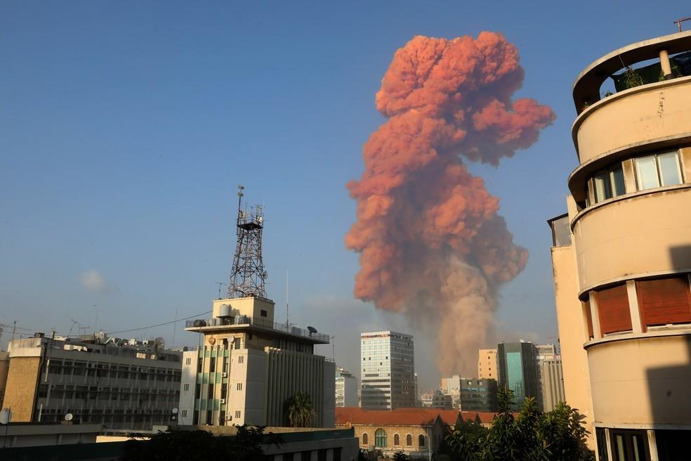 Explosão em Beirute deixa mais de 100 mortos e 4 mil feridos